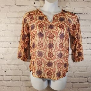 💥 MOSSIMO Multi-color Lightweight Floral Blouse